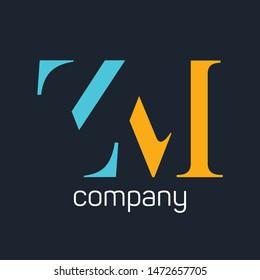 ZM logo. Company logo. Monogram. Letters Z and M.