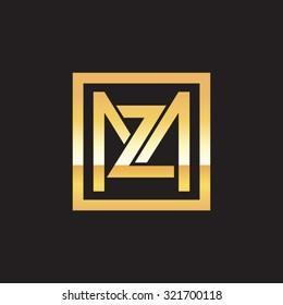 ZM MZ initial company, golden square frame