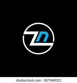 ZN or NZ abstract outstanding professional business awesome artistic branding company different colors illustration logo