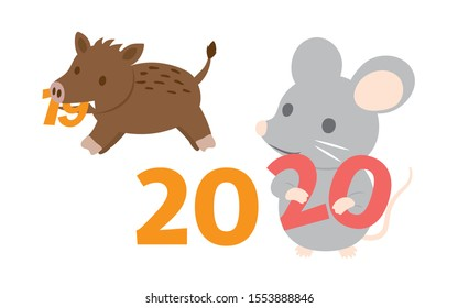 From the zodiac of 2019 to the zodiac of 2020.