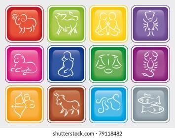 Zodiac button set