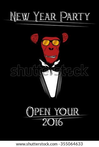 Zodiac Fire Monkey Stock Vector (Royalty Free) 355064633 - Shutterstock