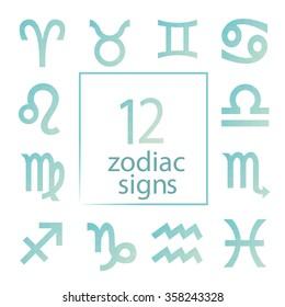 Zodiac icons.