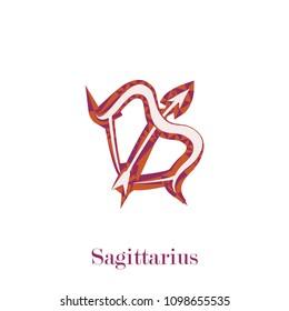 Zodiac Sagittarius symbol geometric