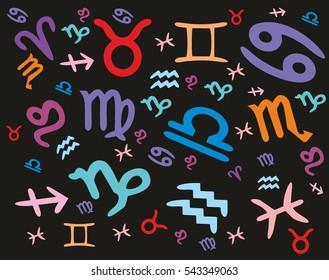 zodiac sign graphic design vector art