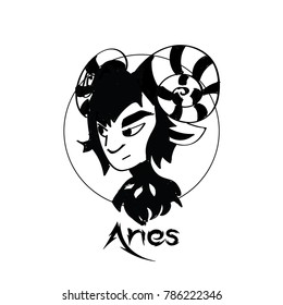 Zodiac Signs of cute female Aries character