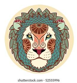 Zodiac signs - Leo (colored)