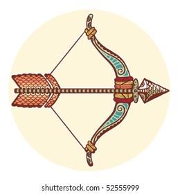 Zodiac signs - Sagittarius (colored)