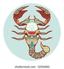 Zodiac signs - Scorpio (colored)