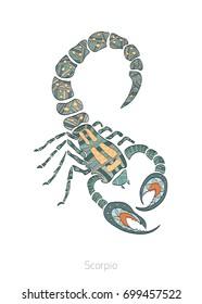 Zodiac signs, vector illustrations, Scorpio