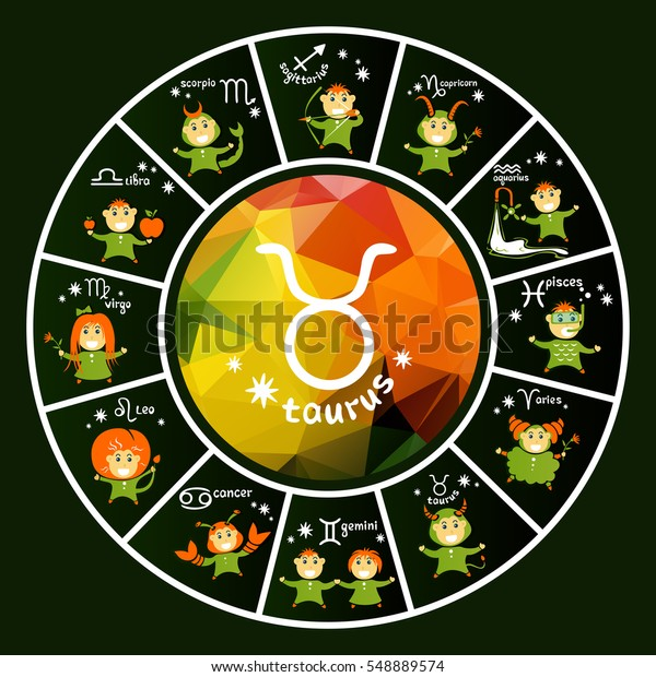 Zodiac Signs Vector Set Isolated On Stock Vector (Royalty Free