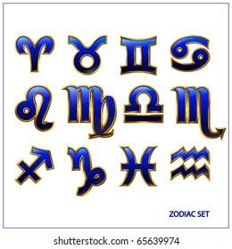 Zodiac vector icons. Vector illustration.