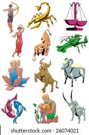 Zodiacal signs in color