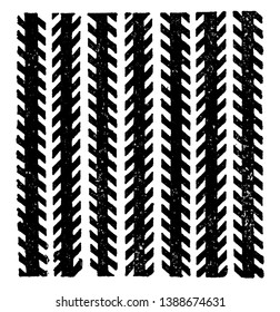 Zollner Illusion is the angle helps to create the impression that one end of the longer lines is nearer to us than the other end, vintage line drawing or engraving illustration.