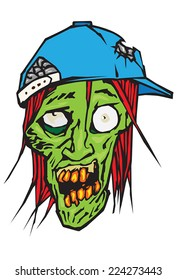 Zombie with baseball cap
