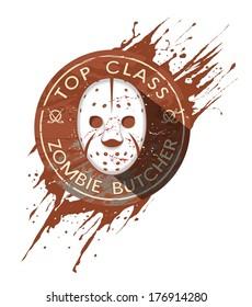 Zombie Butcher Badge