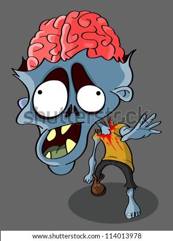 Immagine vettoriale a tema zombie cartoon royalty free 114013978