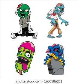 Zombie characters are heading for something