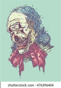 Zombie Clown Head