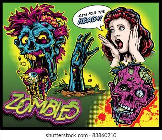 Zombie Comic Set
