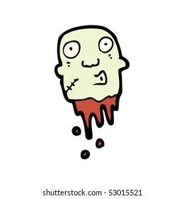 zombie head cartoon