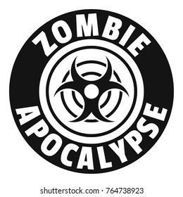 Zombie infection logo. Simple illustration of zombie infection vector logo for web
