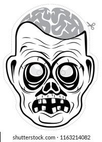 Zombie male Halloween mask