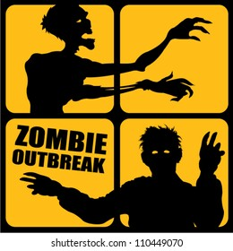 Zombie Outbreak silhouettes