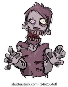 Zombie vector illustration.