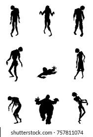 Zombies Silhouette Vector
