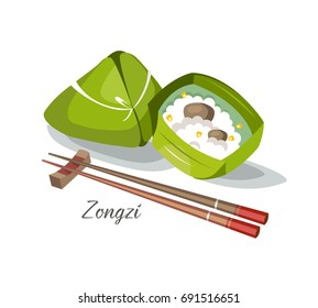 Zongzi food taiwan china japan traditional kitchen dish