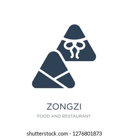 zongzi icon vector on white background, zongzi trendy filled icons from Food and restaurant collection, zongzi vector illustration
