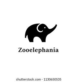 Zoo Elephant Logo Design Vector Symbol Trunk Animal
