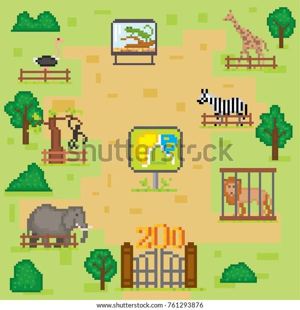 Image Vectorielle De Stock De Zoo Infographics Elements