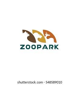 Zoo logo, animals vector icon