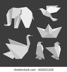 the zoo made of origami