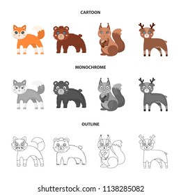 Zoo, nature, reserve and other web icon in cartoon,outline,monochrome style.Artiodactyl, nature, ecology, icons in set collection.