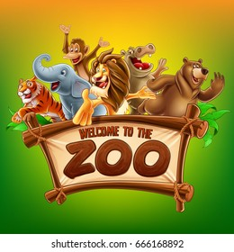 zoo safari illustration