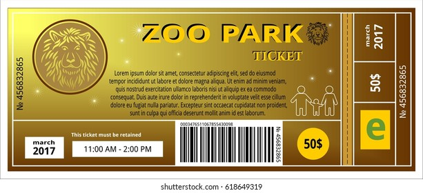 zoo ticket card coupon pass admit entry event park safari