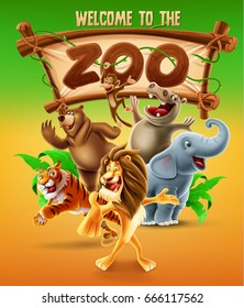 zoo vector illustration