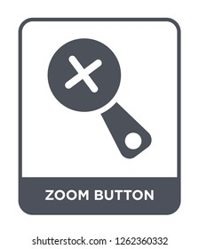 zoom button icon vector on white background, zoom button trendy filled icons from Ultimate glyphicons collection, zoom button simple element illustration