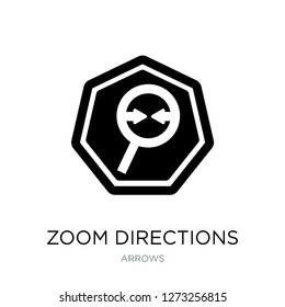 zoom directions icon vector on white background, zoom directions trendy filled icons from Arrows collection, zoom directions simple element illustration