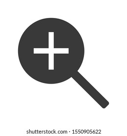 Zoom in or enlarge icon symbol in simple vector style