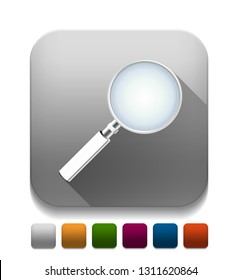 zoom glossy icon With long shadow over app button