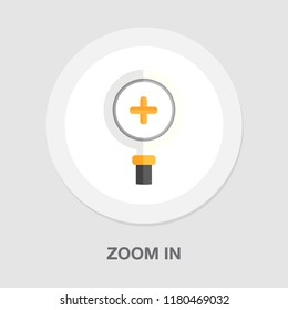 zoom in icon - magnifying glass symbol - find button