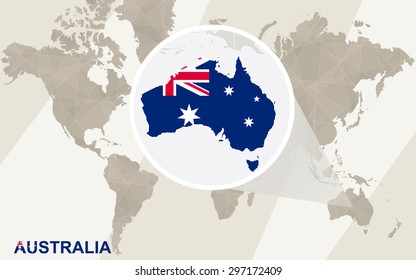 Melbourne Australia World Map Images Stock Photos Vectors