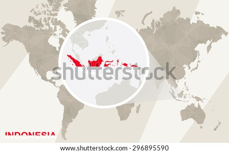Zoom On Indonesia Map Flag World Stock Vector (Royalty Free ...