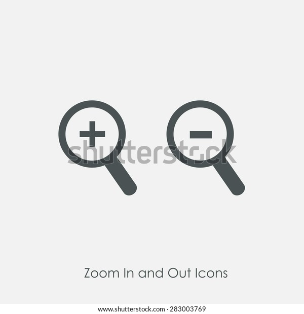 Zoom Zoom Out Icons Simple Zoom Stock Vector (Royalty Free