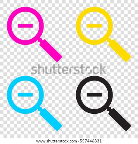ebe500032c43 Zoom Sign Illustration CMYK Icons On Stock Vector (Royalty Free ...