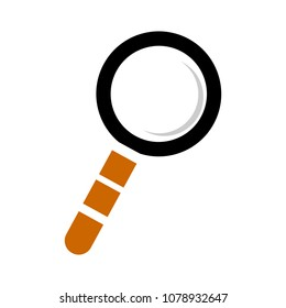 zoom symbol - magnifying glass - search icon, find illustration